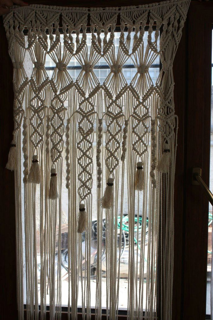 instructions for a macrame door curtain