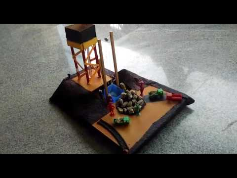 how to build a mine shaft for a school project